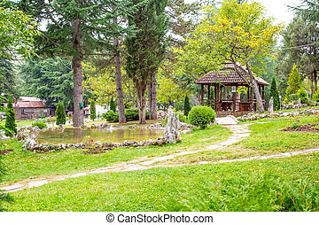 Saint Naum Monastery in Macedonia - One of the views in...