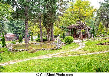 Saint Naum Monastery in Macedonia - One of the views in...