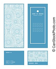 Vector doodle circle water texture vertical frame pattern...