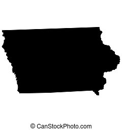 map of the US state of Iowa
