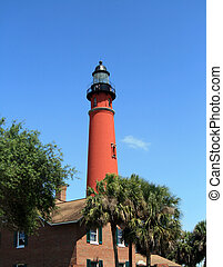 Historic Ponce De Leon lighthouse - Lighthouse, located in...