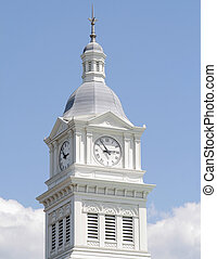 Historic Church Clock Tower - Historic church clock tower in...