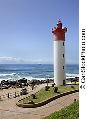 Lighthouse in Umhlanga Near Durban on the East Coast of...