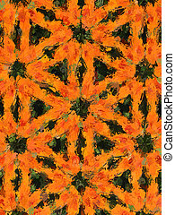 Orange Dahlias - Photo-graphic image of an orange Dahlia...