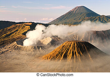 Volcano - Mount Bromo volcanoes taken in Tengger Caldera,...