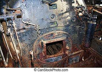 Steam Engine Compartment - A very old train. Interesting...