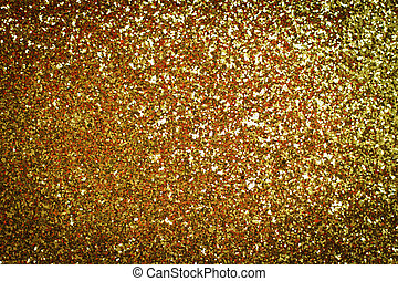Decorative gold background with sparkling - photo of...