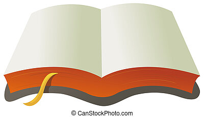 open book with bookmarks isolate in a white background