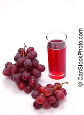 grape-juice - glass of fresh grape juice on white background