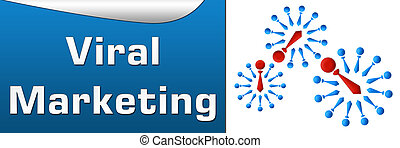 Viral Marketing Blue Horizontal - Horizontal image with...