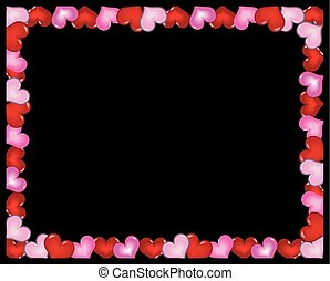 Valentines Day frame with tree and hearts