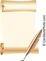 Quill pen Vector Clip Art Illustrations. 848 Quill pen ...