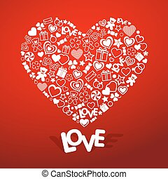 Love symbol Vector and illustration