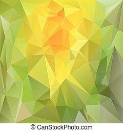 ベクトル, polygonal, background-, 三角, デザイン,...