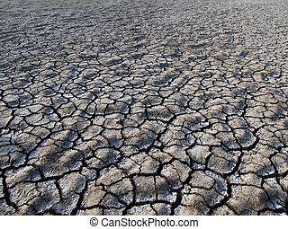 arid ground land cracked
