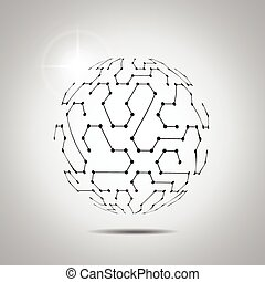Abstract vector background Futuristic technology style...