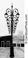 Moscow, Patriarshy bridge, street lamps - View from...