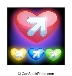 4 web download icon. Heart