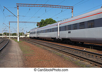 Speed train - Speed regional train departing from the...
