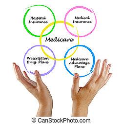 diagrama, de, Medicare,