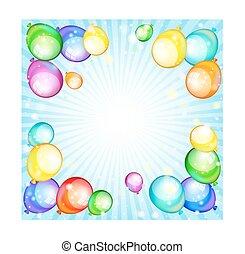 Rainbow  holiday balloons. Vector Illustration