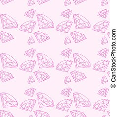 seamless pattern with swag pink diamonds