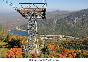 Cannon Mountain Aerial Tramway View at Franconia Notch in...