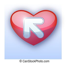 Web download icon. Heart