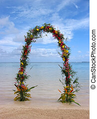 beach wedding arch or gate