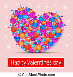 Card with heart, valentine