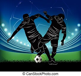 football players - struggle