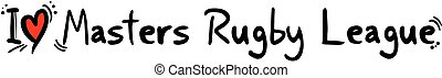 Master rugby league love - Creative design of Master rugby...
