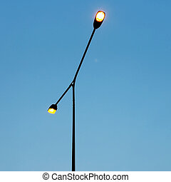 streetlight on beautiful sky background
