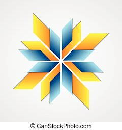 Abstract corporate logo design. Vector background