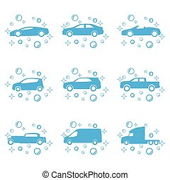 Car wash vector