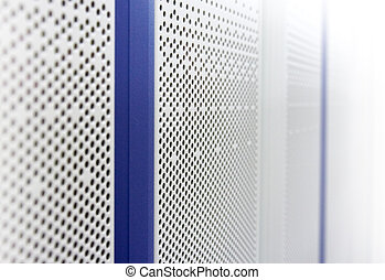 Doors of a telecommunication case as abstract background