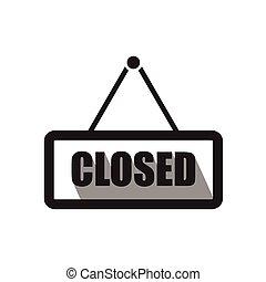 Closed sign board icon