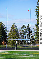 Goal Posts at Football Field