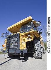Huge Dump Truck - Huge dump truck at the limestone plant.