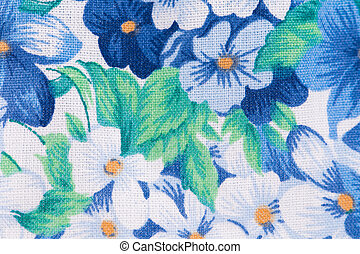 floral pattern on cloth
