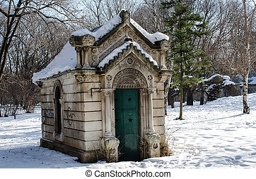 Small mausoleum in a historic Ivancho Mihailov Rousse...