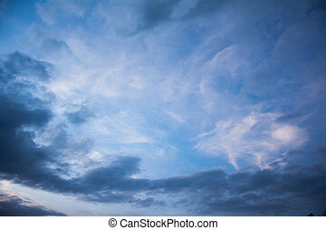 Dramatic sky clouds in summer