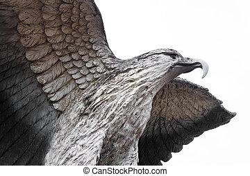 Eagle statue - photo of eagle statue texture
