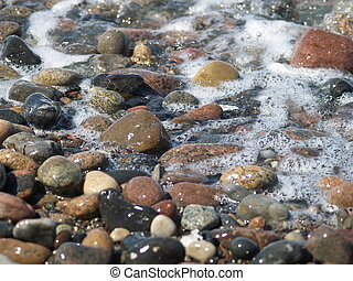 stones on the beach  - at the coastline of the balticsea