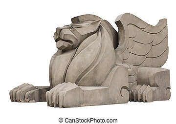 Stone Lion - A stone lion. Architecture is a beautiful and...