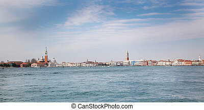 Lagoon Venice - the lagoon of Venice with the Island of...