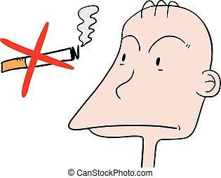No smoke symbol - Creative design of No smoke symbol