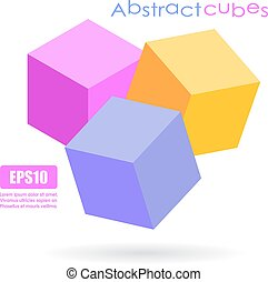 Science abstract icon with cubes