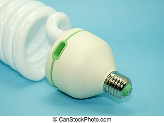 energy efficient light bulb isolated