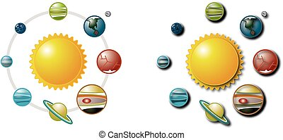 Solar System 1 - Vector Art Planets from the Solar System